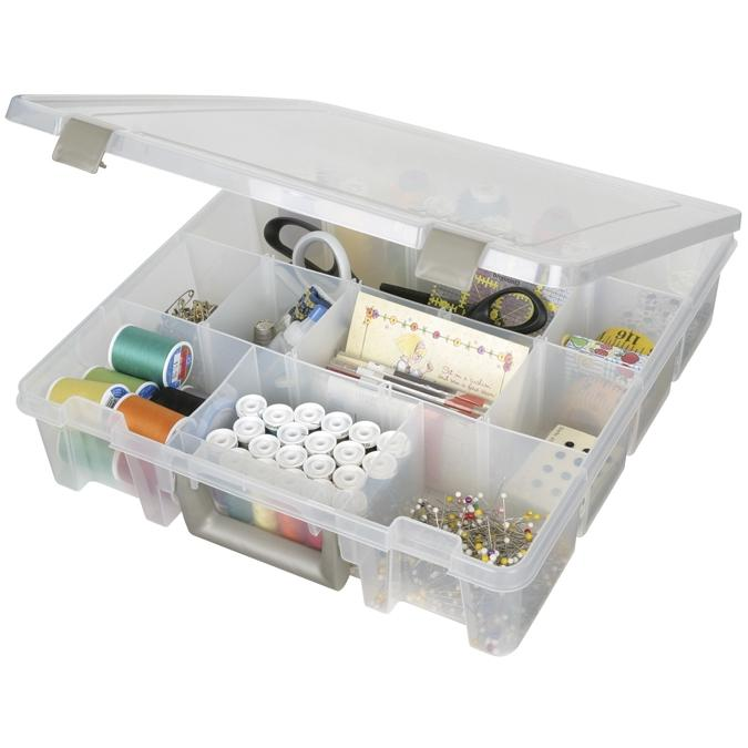 ArtBin Translucent Super Satchel Organizer with 12 Compartments