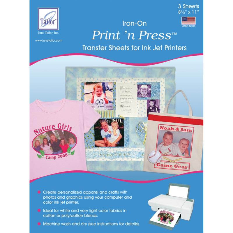 JUNE TAILOR June Tailor Print 'n Press Iron-On Transfer Paper