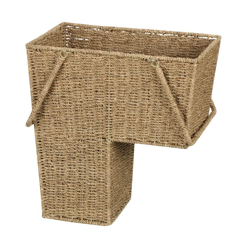 Household Essentials Household Essentials Stair Basket with Handles