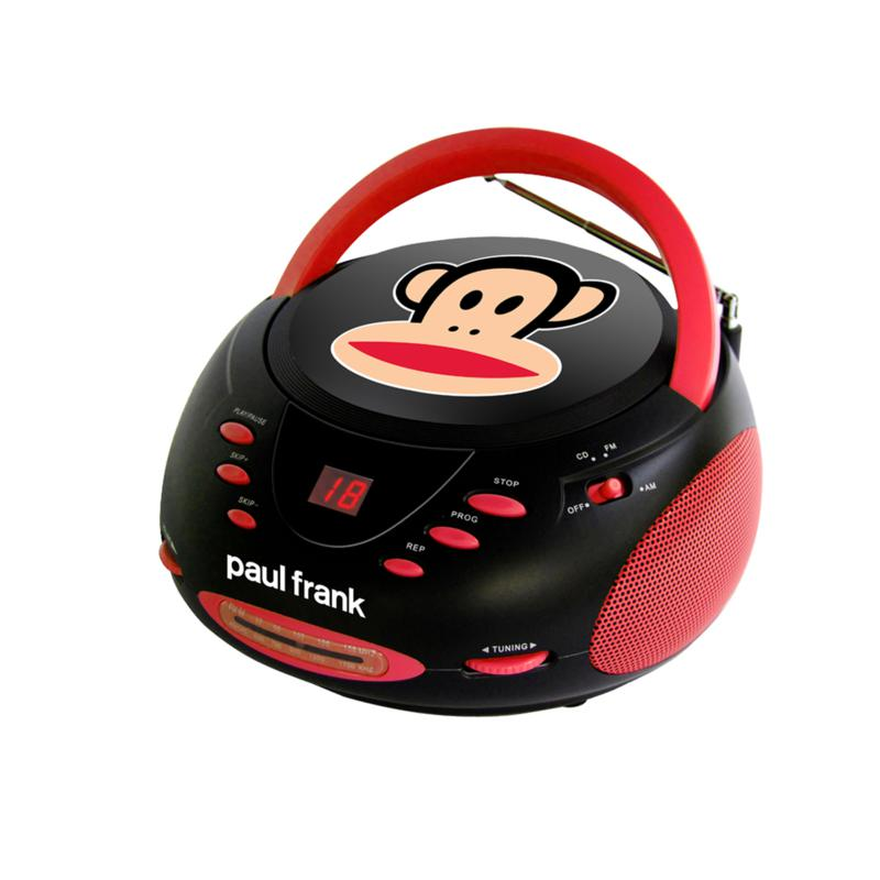 PAUL FRANK Boom Box with CD Player and AM/FM Radio