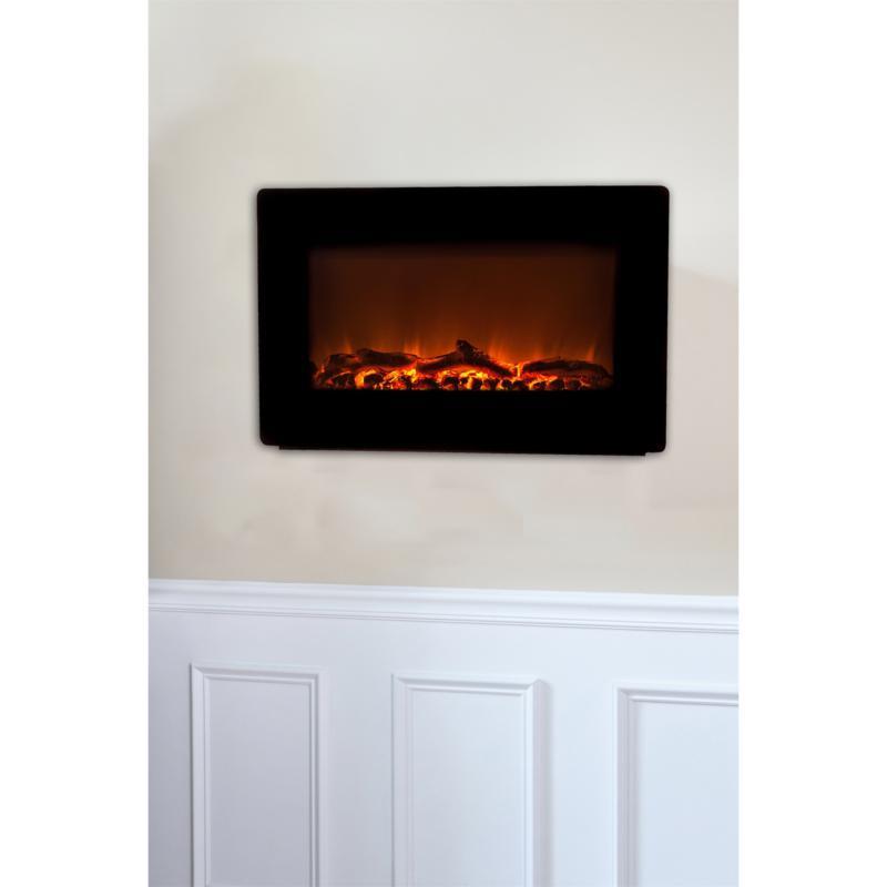 Fire Sense Black Wall-Mounted Electric Fireplace