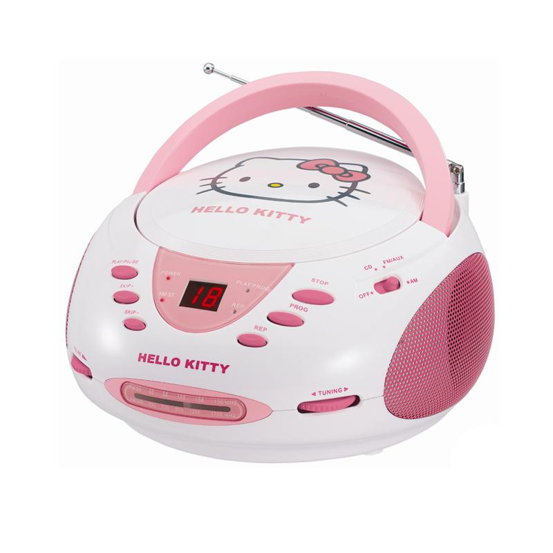Hello Kitty Hello Kitty Stereo CD Boombox with AM/FM Radio