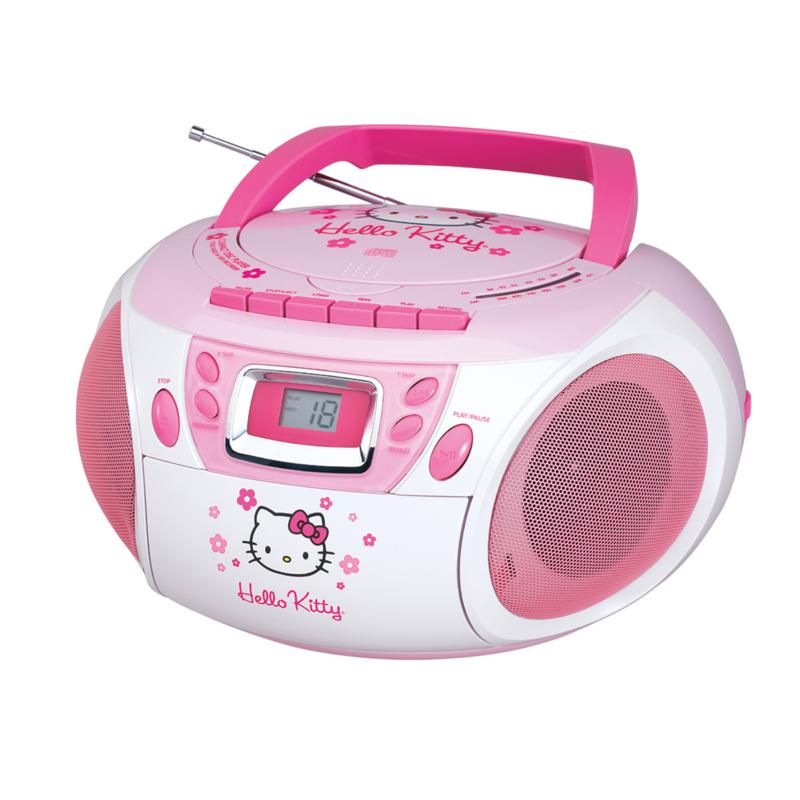 Hello Kitty Hello Kitty Stereo CD Boombox with Cassette Player/Recorder and AM/FM Radio