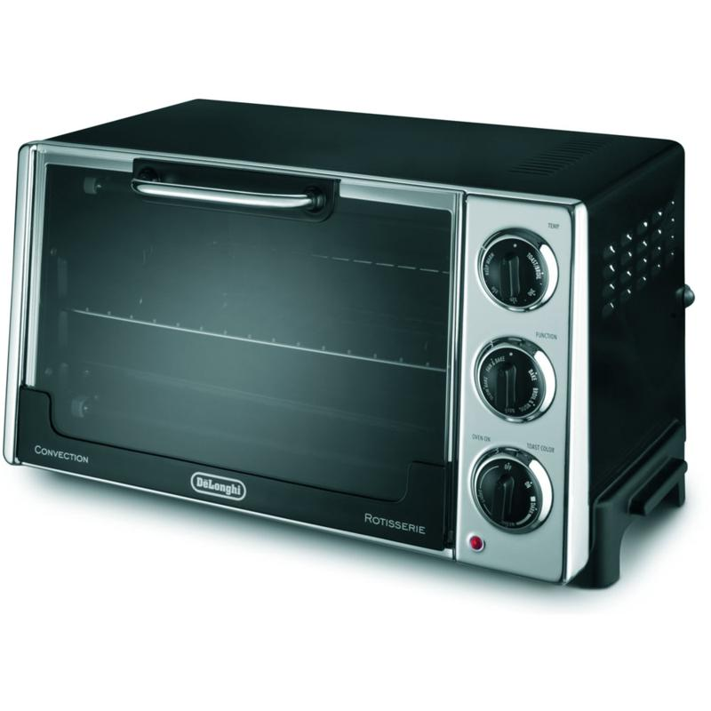 De'Longhi Convection Toaster Oven with Rotisserie - Black