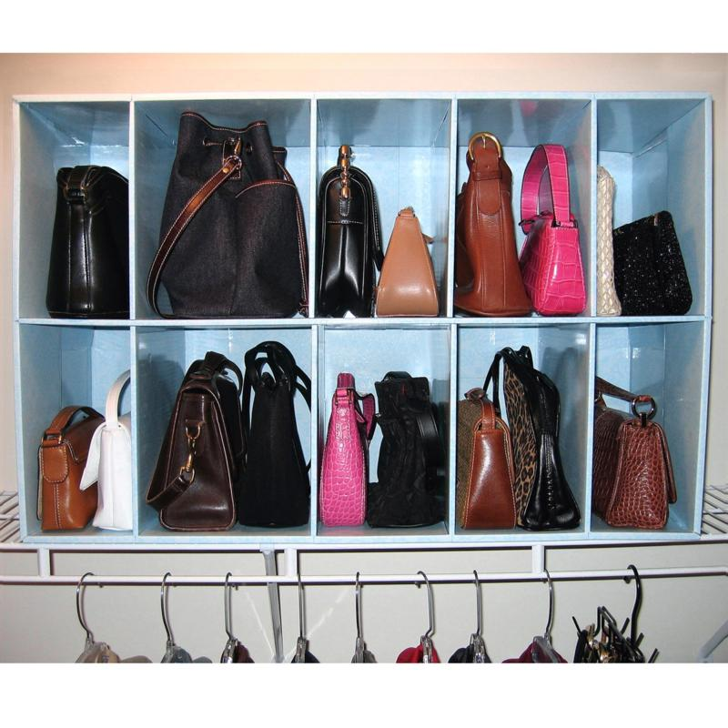 HSN Park-a-Purse Closet Organizer with 10 Cubbies