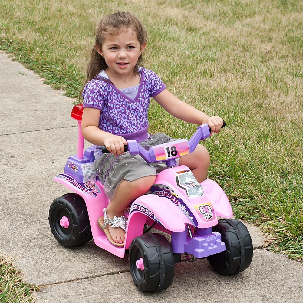 Trademark Global, Inc. Precess 4 Wheel Mini ATV - Pink/Purple