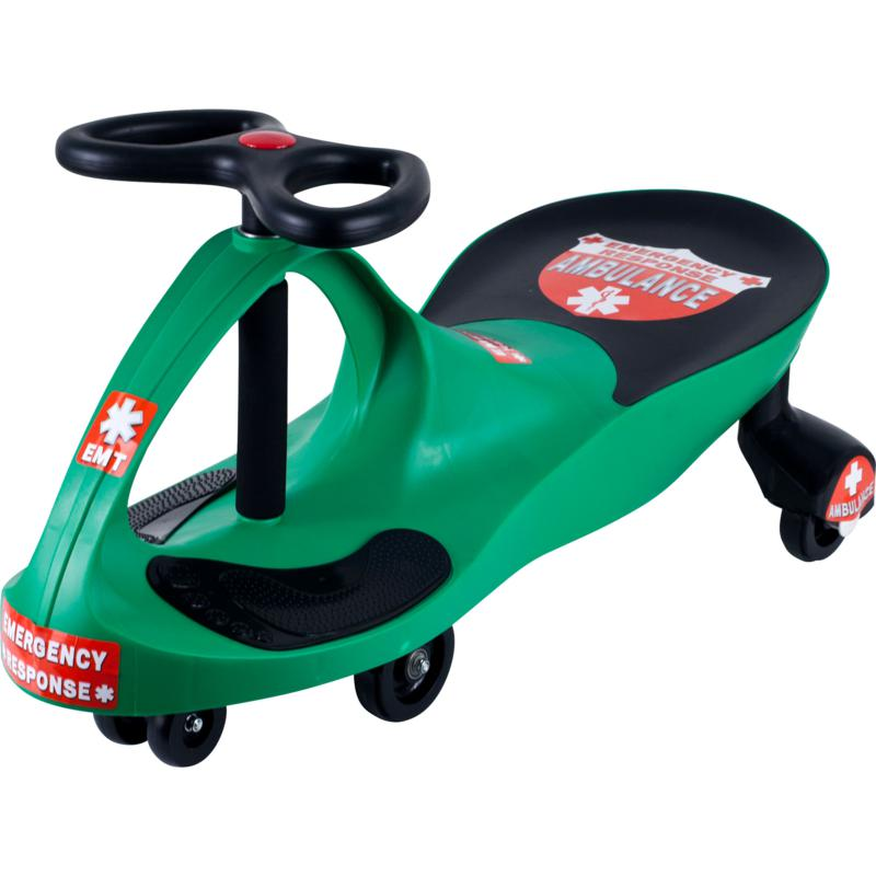Trademark Global, Inc. Green Responder Ambulance Wiggle Ride-on Car