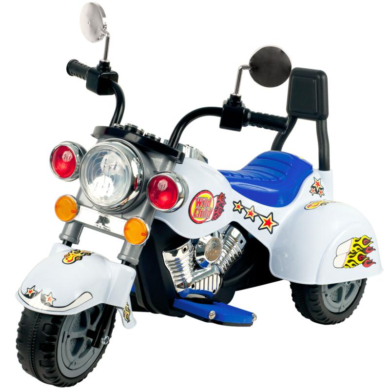 Trademark Global, Inc. White Knight Motorcycle - Three Wheeler