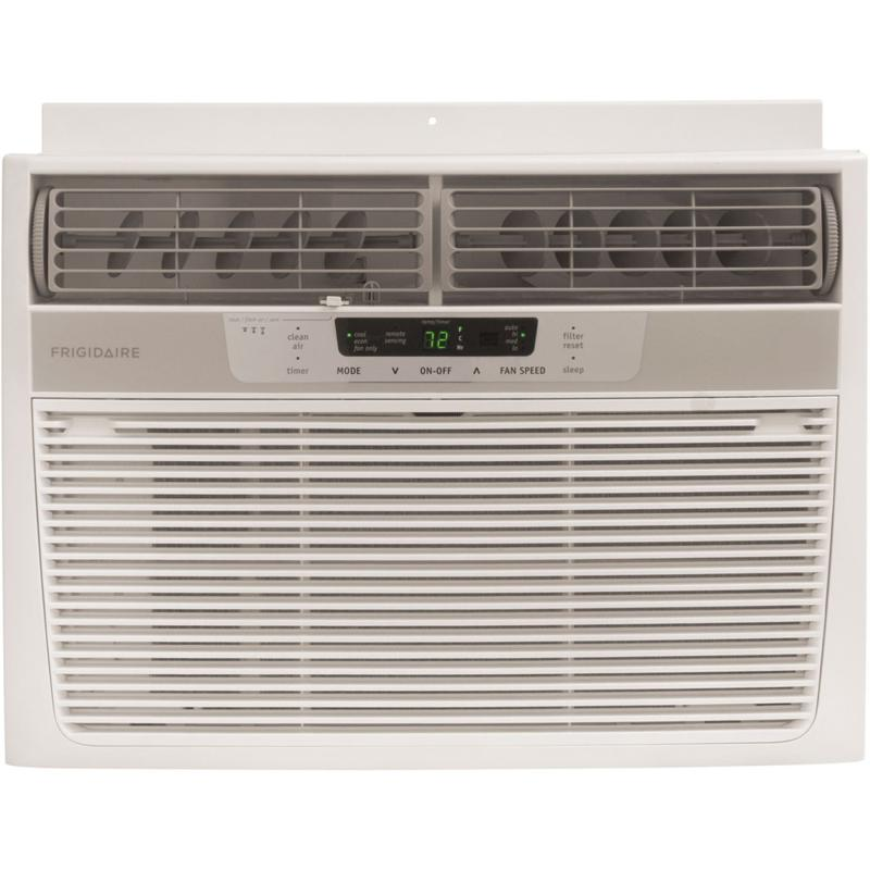 Frigidaire 12,000 BTU Window-Mounted Compact Air Conditioner with Temperature-Sensing Remote Control