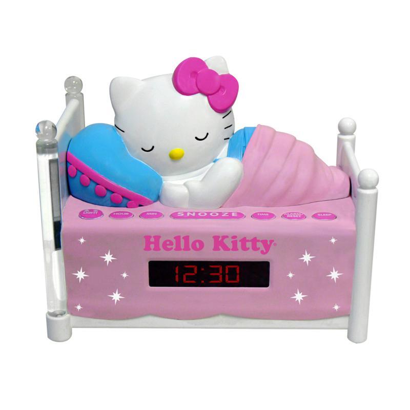Hello Kitty Hello Kitty Sleeping Kitty Clock Radio with Night Light