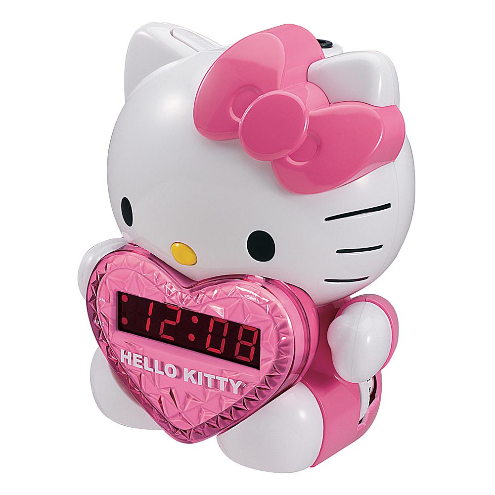 Hello Kitty AM\/FM Projection Clock Radio with Battery Back-Up