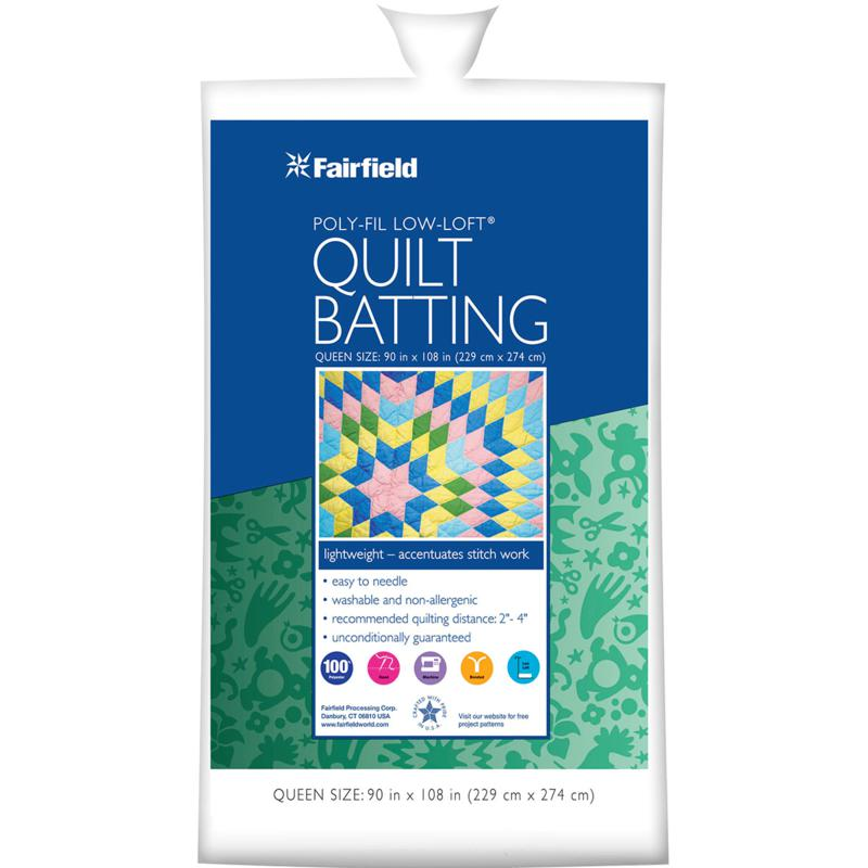 Fairfield Low-Loft, Bonded-Polyester Batting - Queen Size