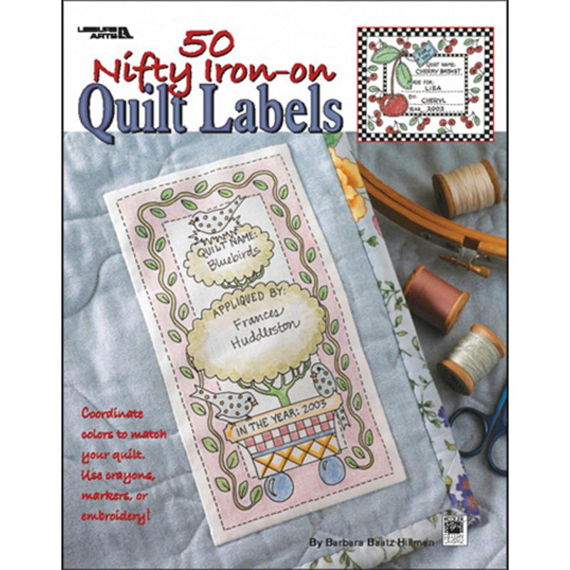 LEISURE ARTS Leisure Arts' 50 Nifty Iron-On Quilt Labels