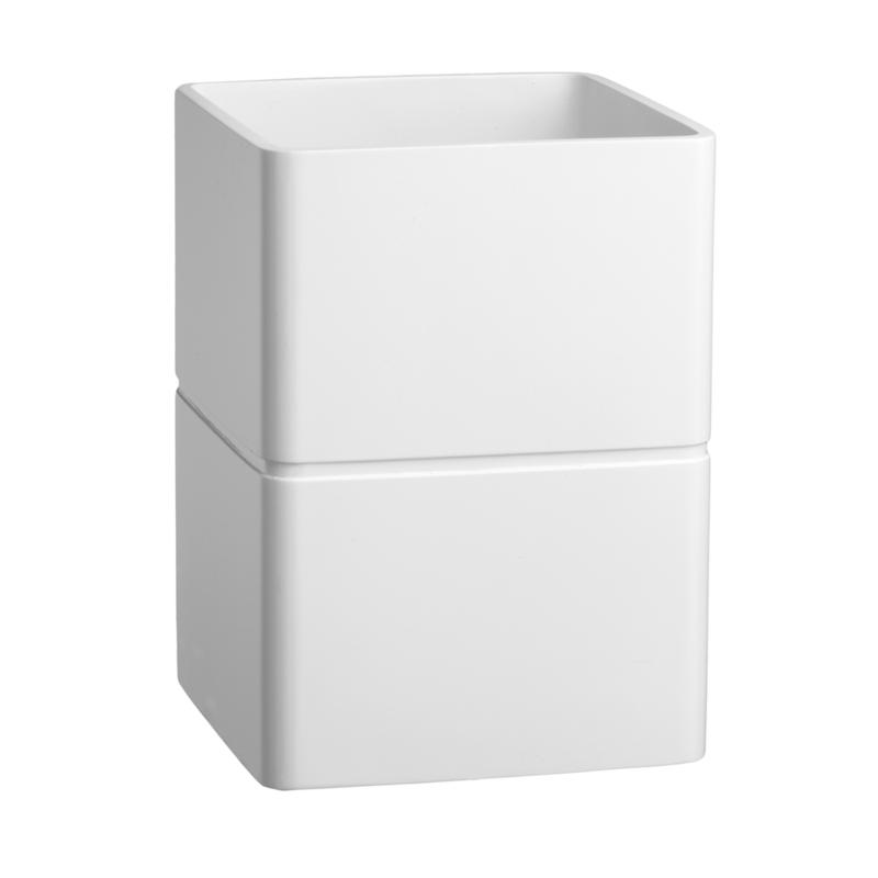 Kraftware Corp. Malibu Large Resin Waste Basket - Bright White