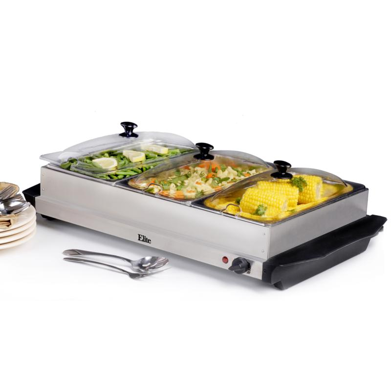 Elite Elite Gourmet 3 x 2.5qt. Buffet Server