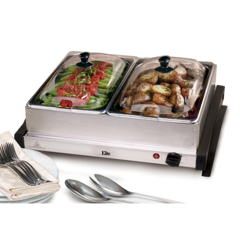 Elite Elite Gourmet 2 x 2.5qt. Buffet Server