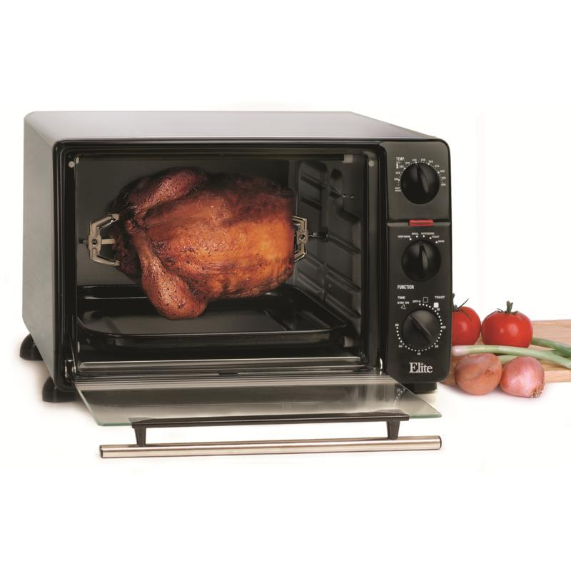 Elite Elite Cuisine .8Cu. Ft. Toaster Oven with Rotisserie