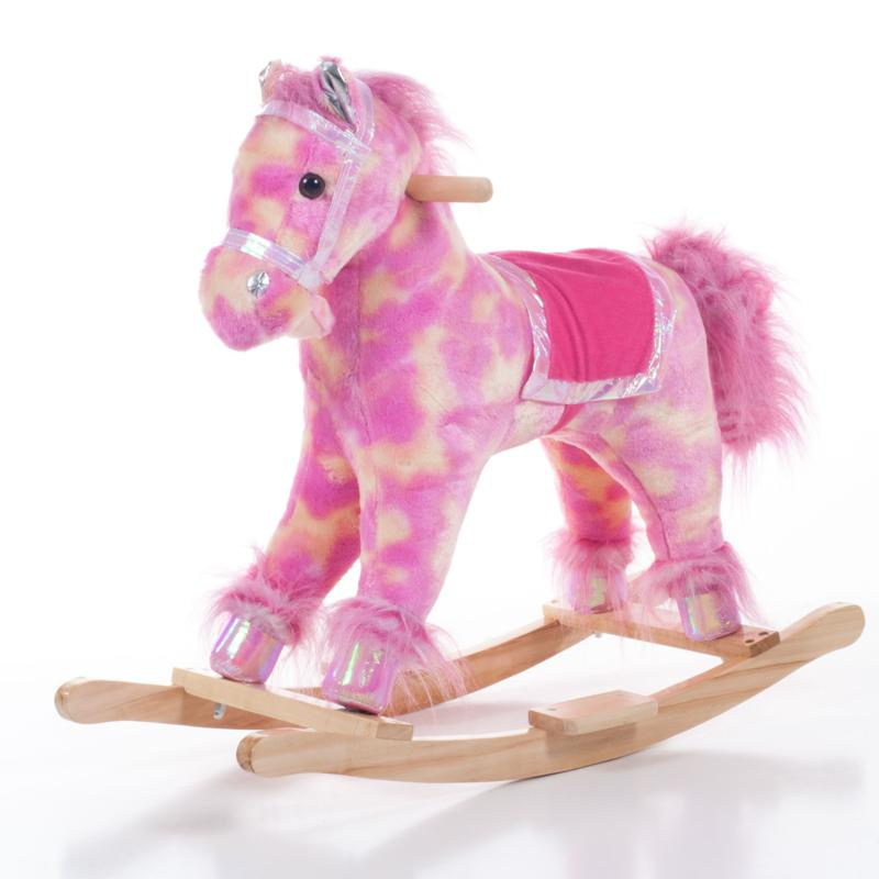 Happy Trails Happy Trails Plush Pink Rocking Pony