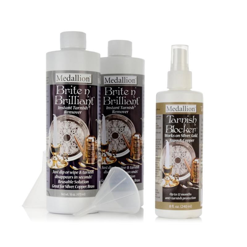 HSN Brite N' Brilliant Tarnish Blocker and Remover Kit