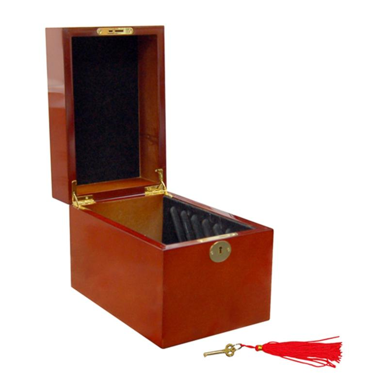 Coin Collector Wooden 5-Slab Display Box for 5 oz. Coins