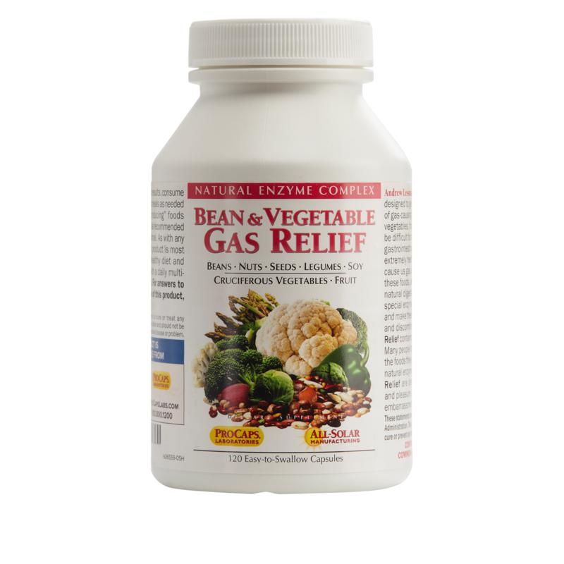 Andrew Lessman Bean and Vegetable Gas Relief - 120 Capsules