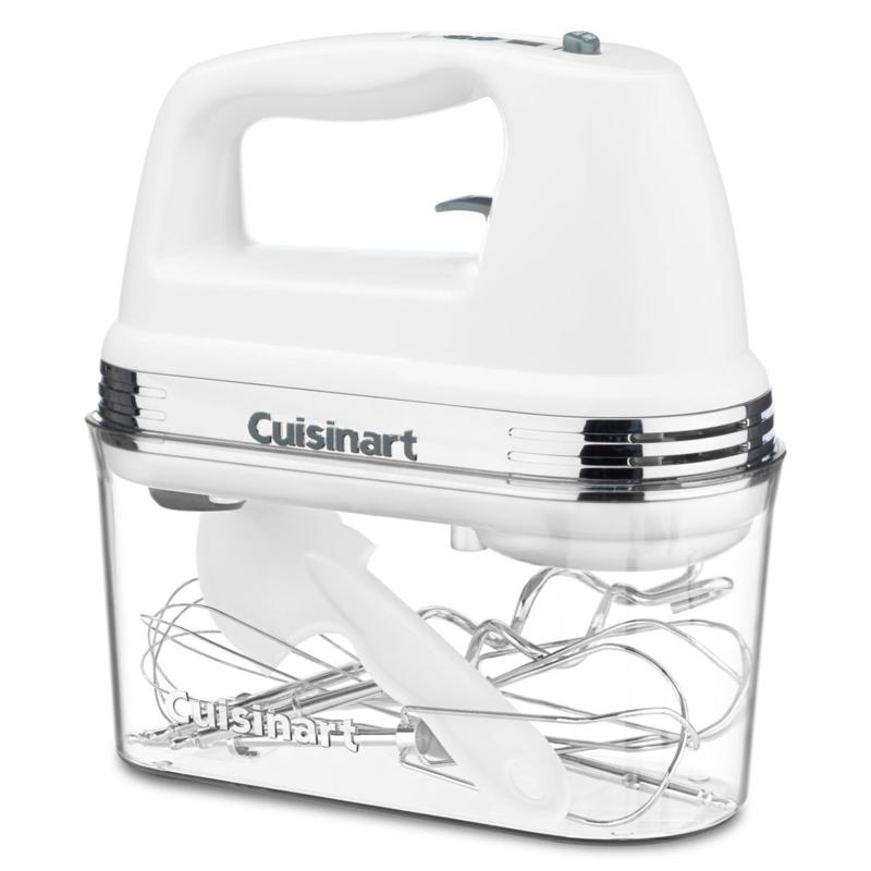 Cuisinart Cuisinart 9-Speed White Hand Mixer with Storage Case