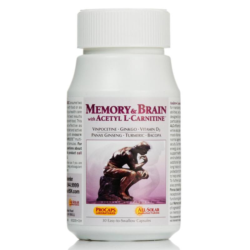 Andrew Lessman Memory and Brain with Acetyl L-Carnitine - 30 Capsules