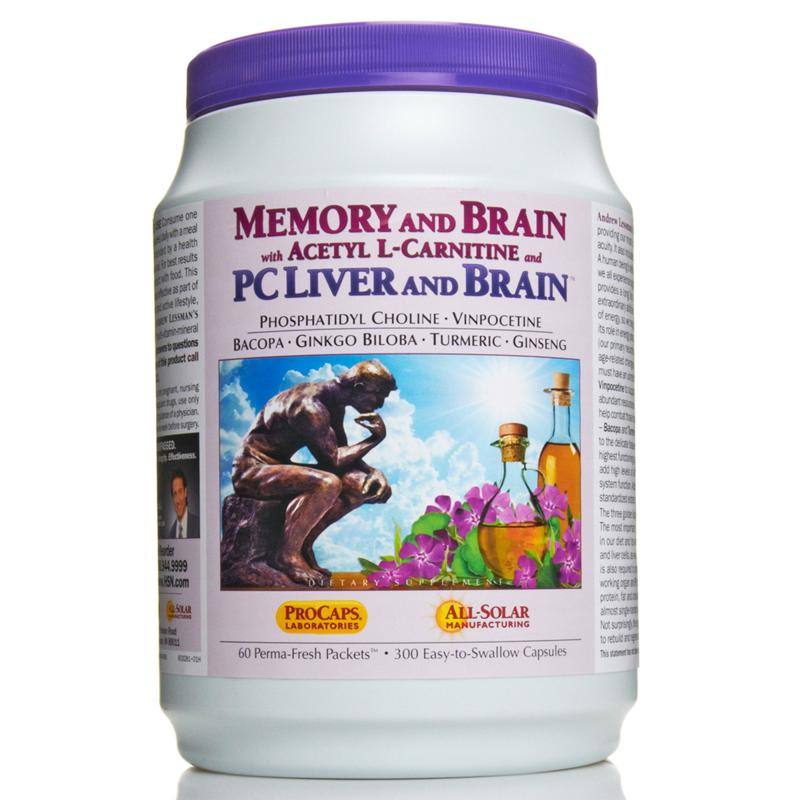 Andrew Lessman Memory & Brain with ALC and PC Liver & Brain - 60 Packets - AutoShip