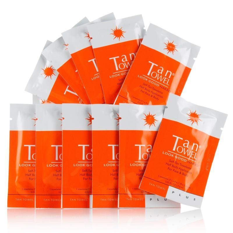 TanTowel Half Body PLUS Towelettes - 12-pack - AutoShip