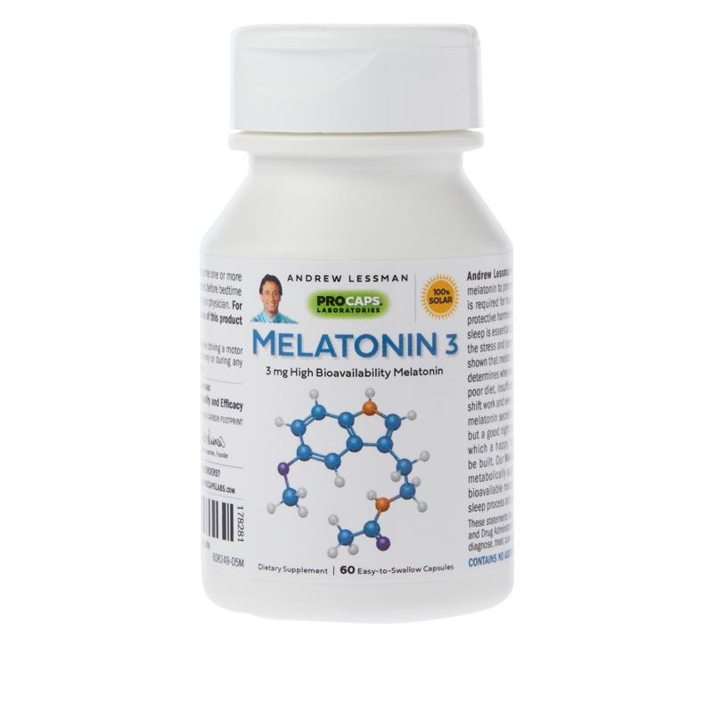 Andrew Lessman Melatonin-3 - 60 Capsules