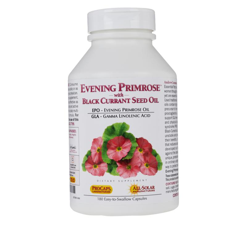 Andrew Lessman Evening Primrose with Black Currant Seed Oil - 180 Capsules