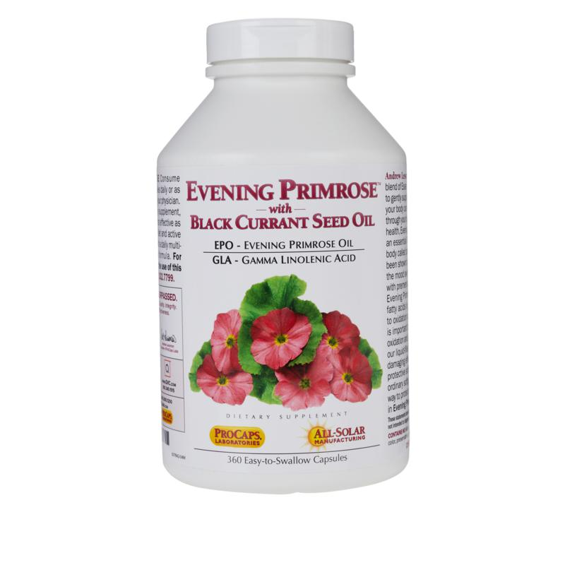 Andrew Lessman Evening Primrose with Black Currant Seed Oil - 360 Capsules
