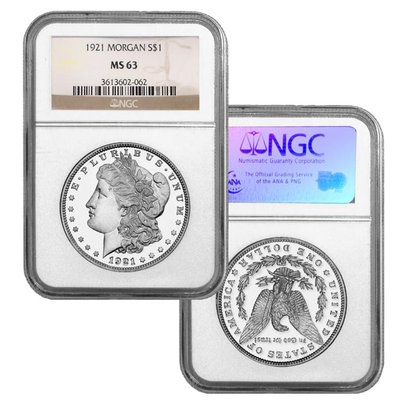 Coin Collector 1921-P MS63 NGC Morgan Silver Dollar