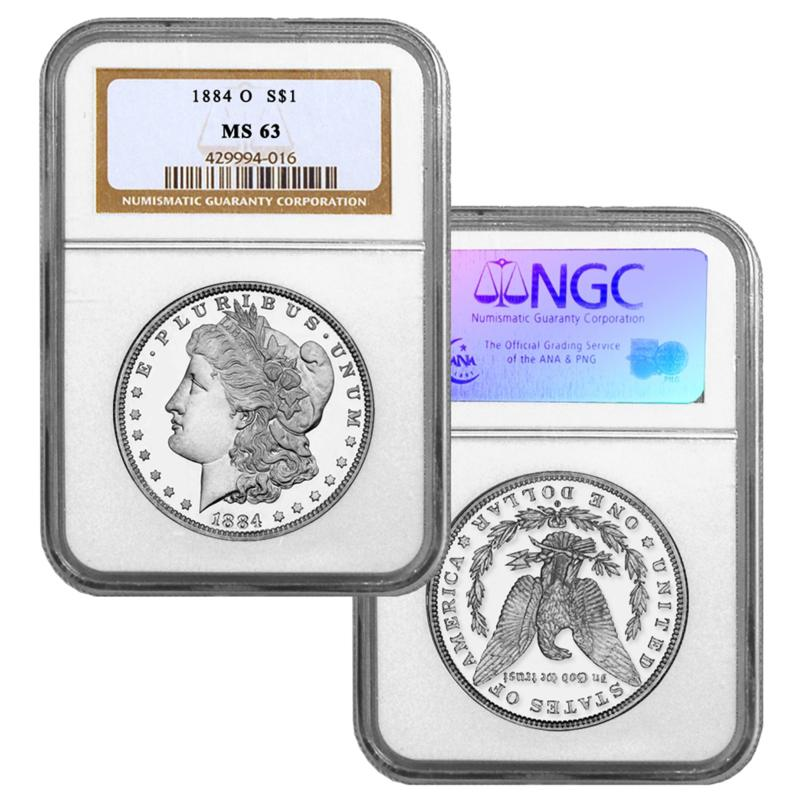 Coin Collector 1884-O MS63 NGC Morgan Silver Dollar