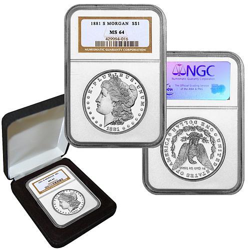 1881 MS64 NGC S-Mint Morgan Silver Dollar