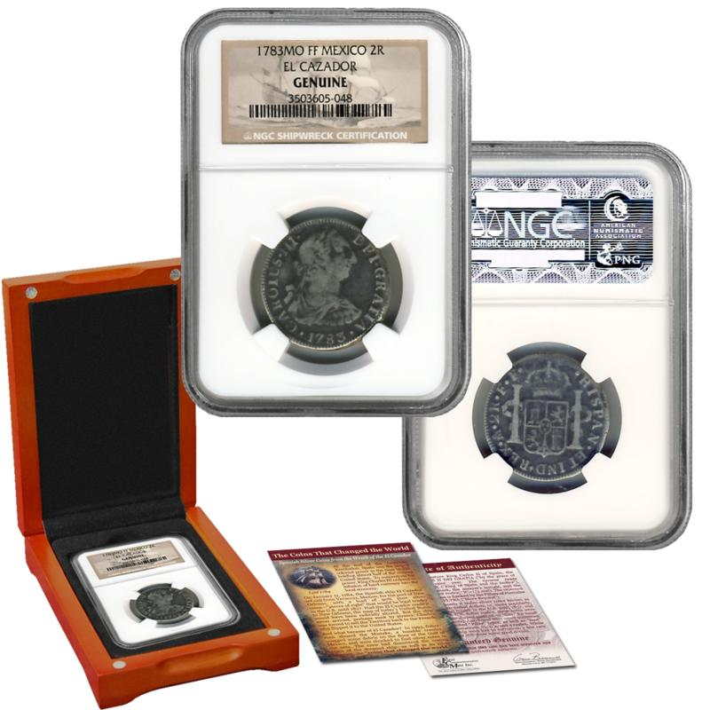 Coin Collector NGC-Certified 2 Reales Silver Coin