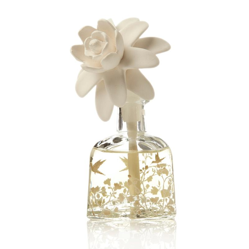 Scentaments Scentaments Porcelain Flower Top Diffuser Set - Lush Gardenia