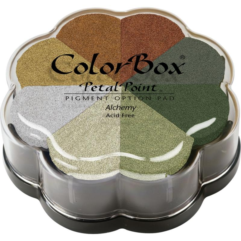 CLEARSNAP Colorbox Petal Point Pigment Option Pad 8/Color - Metalextra Alchemy