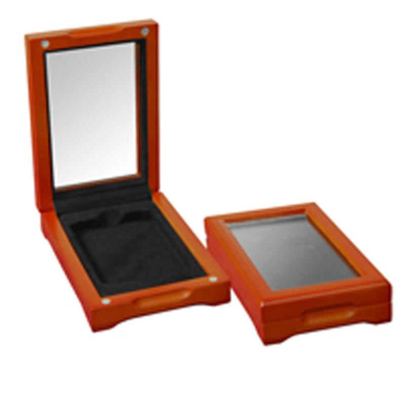 Coin Collector Set of 2 Oak Display Boxes for Slabbed Coins