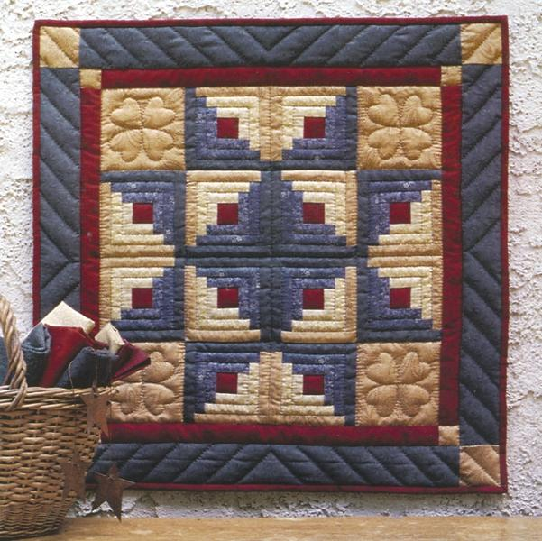 RACHEL'S OF GREENFIELD Log Cabin Star Wallhanging Quilt Kit - 22x22
