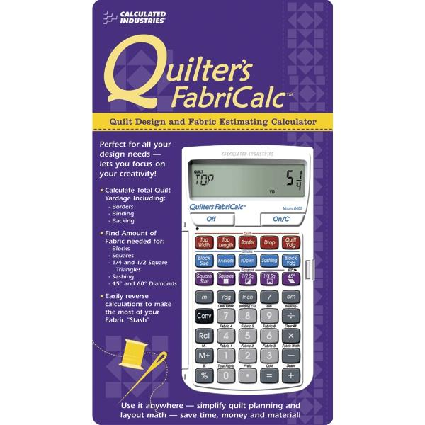 CALCULATED INDUSTRIES FabriCalc-Quilt Design and Fabric Calculator