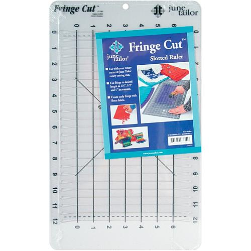 Fringe Cut Slotted Ruler