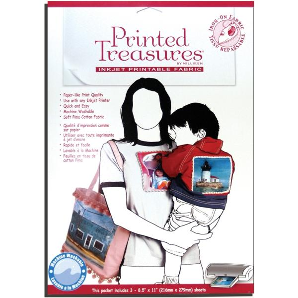 DRITZ Printed Treasures White Fabric Sheets Iron-On - 8-1/2 x 11 (3 Pack)