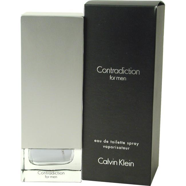Calvin Klein Contradiction For Men by Calvin Klein - Eau De Toilette Spray 3.4 Oz