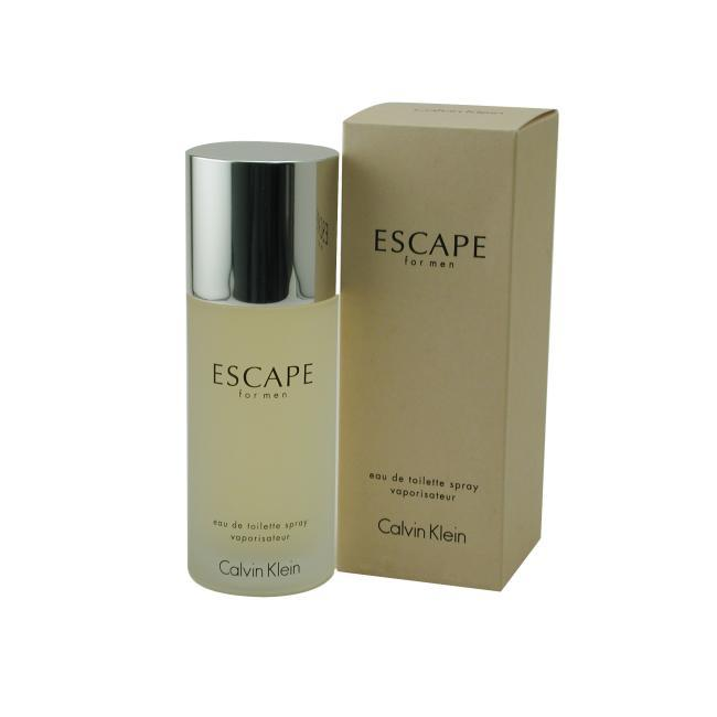 Calvin Klein Escape For Men by Calvin Klein - Eau De Toilette Spray 3.4 Oz