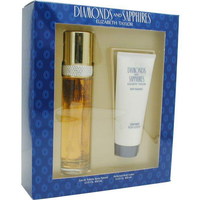 Elizabeth Taylor Diamonds & Sapphires - Set-edt Spray 3.3 Oz & Body Lotion 3.3 Oz