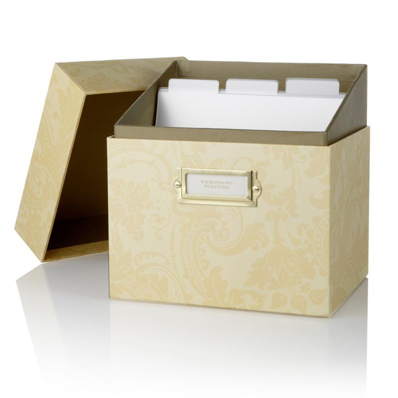 Anna Griffin Anna Griffin Embossing Folder Storage Box - Ivory Damask