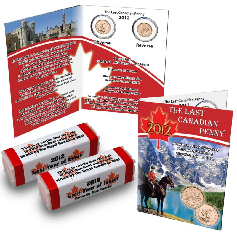 Coin Collector 2012 Last Canada Cent 2-Roll Set with Story Card