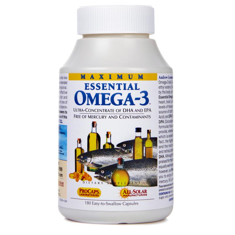 Andrew Lessman Maximum Essential Omega-3 - 180 Capsules