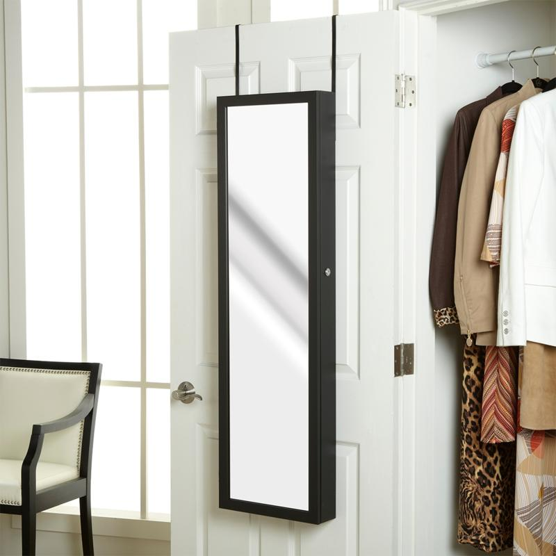 HSN Over-the-Door Jewelry Armoire with Full-Length Mirror